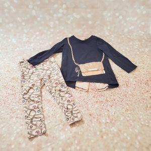 EUC Juicy Couture Girls 3T Pant & Top Set